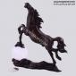 مجسمه برنزی اسب دست روي توپ کوچک AL-025