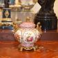 چینی برنزی 137-01063 قندان سفید صورتی
