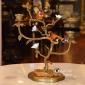 شمعدان چینی برنزی رستیک دو شاخه کد 51162(مکمل51161)