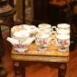 چینی لمونژ (طرح ملودی)چایخوری 14 پارچه پایه کد me215