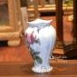 چینی لمونژ (طرح ملودی) گلدان خمره ای کد me219