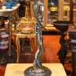 شمعدان برنزی مجسمه زن کد CH-064