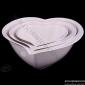 چینی لمونژ سفید 32 کاسه قلبي سه پارچه