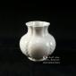 گلدان چینی تپل کوتاه سفید کد 22187