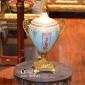 کاپ چینی برنزی کوچک دربدار آبی صورتی کد 31094