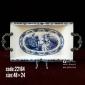 سینی چینی مستطيل تخت دومينوآبي کد 22164