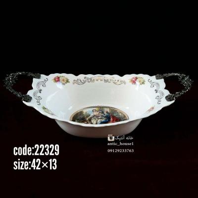 کشکول چینی کوچک دومینو رنگی گلدار کد 22329