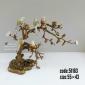 شمعدان چینی برنزی دو شاخه درختي پنج گنجشک کد 51163