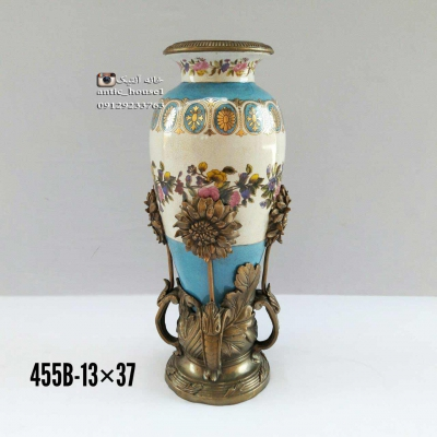 گلدان چینی برنزی گل آفتابگردان کد 455 B