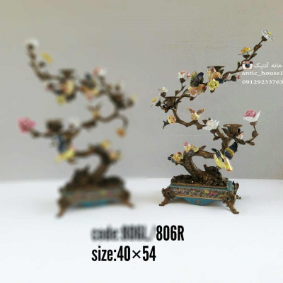 شمعدان چینی برنزی درختی کد 806 R