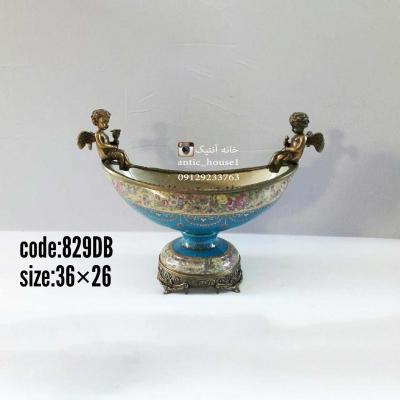 کشکول چینی برنزی پايدار دو سر فرشته کد 829 DB
