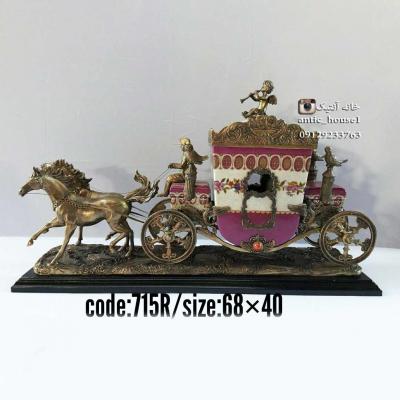 کالسکه چینی برنزی دو اسب کد 715 R