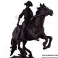 مجسمه برنزی کابوي اسب سوار تفنگ بدست ST-045